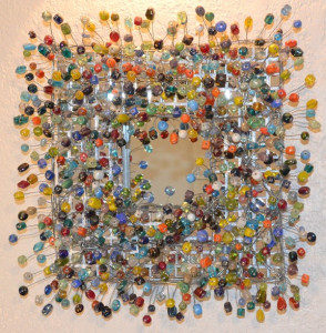 Picture of Beaded Mosaic Glass Mirror