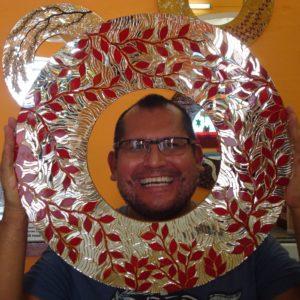Picture of Rodolfo_Rosas_Mosaic_Round_Mirror